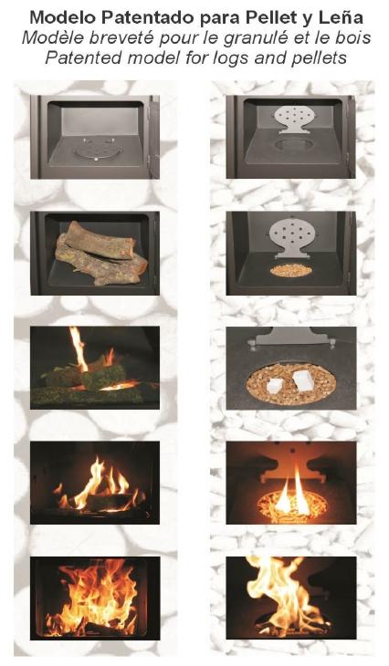 Estufa le a y pellet artico juan panadero caloronline - Chimeneas de peles ...